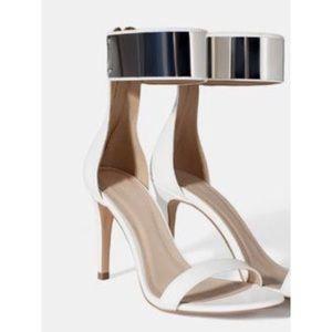 ZARA Ankle Strap Sandal Heels
